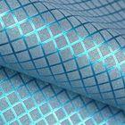 "Пленка с блестками ""Клетка"", цвет синий, 50 х 70 см"