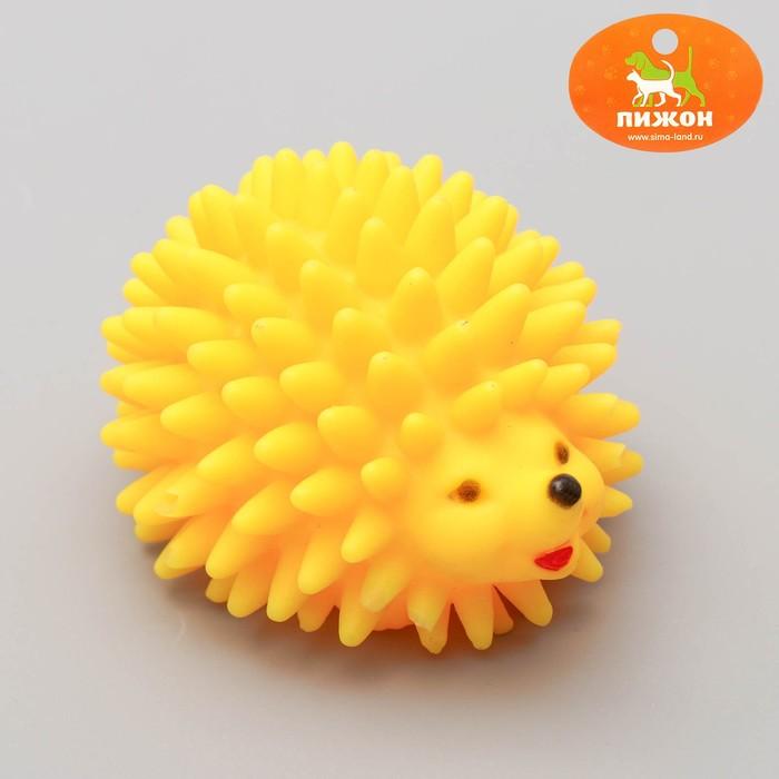 """Игрушка пищащая """"Ёж"""" большой для собак, 9 см, микс цветов"""