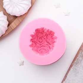 """Молд силиконовый 6,5х4,5 см """"Розовый букет"""""""