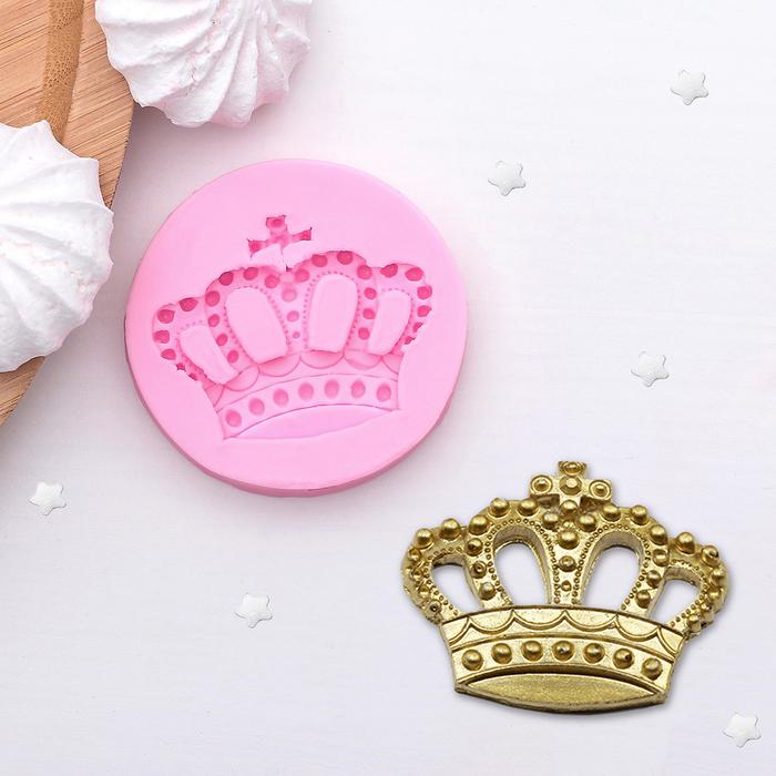 Молд силиконовый «Корона», 5,5×5,5 см - фото 308041109