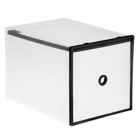 """Короб для хранения выдвижной """"Интрига"""", цвет черный кант"""