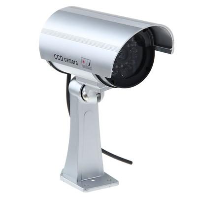 Муляж видеокамеры VM-2, со светодиодным индикатором, 2АА (не в компл.), серебристый 1215