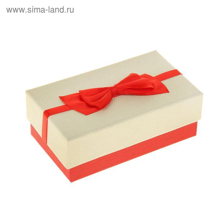 "Коробка подарочная прямоуг 9 х 15 х 5,5 см ""Бантик"", цвет красный"