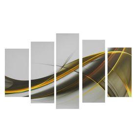 """Картина модульная на подрамнике """"3D линии"""" 80*140 см"""
