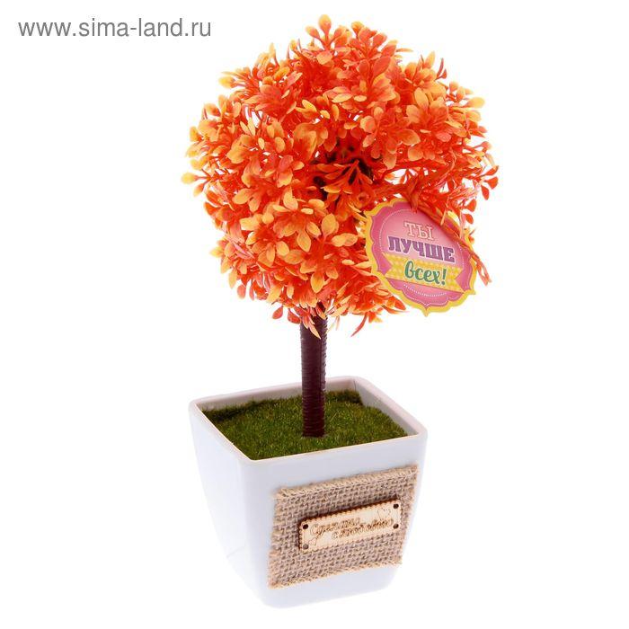 """Дерево искусственное в горшке """"Ты лучше всех на свете"""", 22 х 10,5 см"""