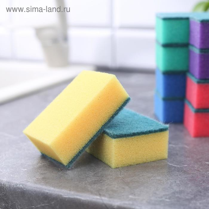 """A set of sponges household cleaning layer in the packaging """"Maxi"""", 10 PCs"""