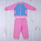 Комплект для девочки (джемпер+штаны), рост 98-104 см (56), цвет розовый/светло-голубой (арт. Д 15166/1/8-П)