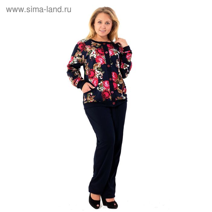 Комплект женский (кофта, брюки) ТК-897 МИКС, р-р 48 интерлок