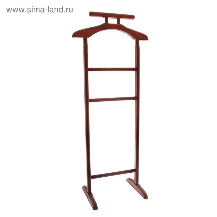 """Вешалка для одежды напольная """"Стандарт"""", цвет красное дерево"""