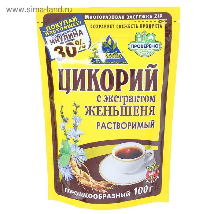 """Цикорий растворимый """"Здоровье"""" с женьшенем, пакет на молнии, 100 г"""