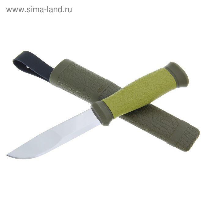Нож MORA Outdoor 2000 Green, Рукоять-прорезиненный пластик, сталь (59-60 HRC)