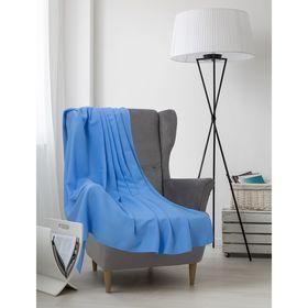 Плед вафельный, размер 150х200 см, 240 гр/м, цвет нежно-голубой Ош