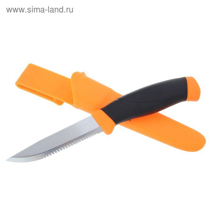 Нож Morakniv Companion F Serrated, рукоять-пластик, резина,  сталь 440
