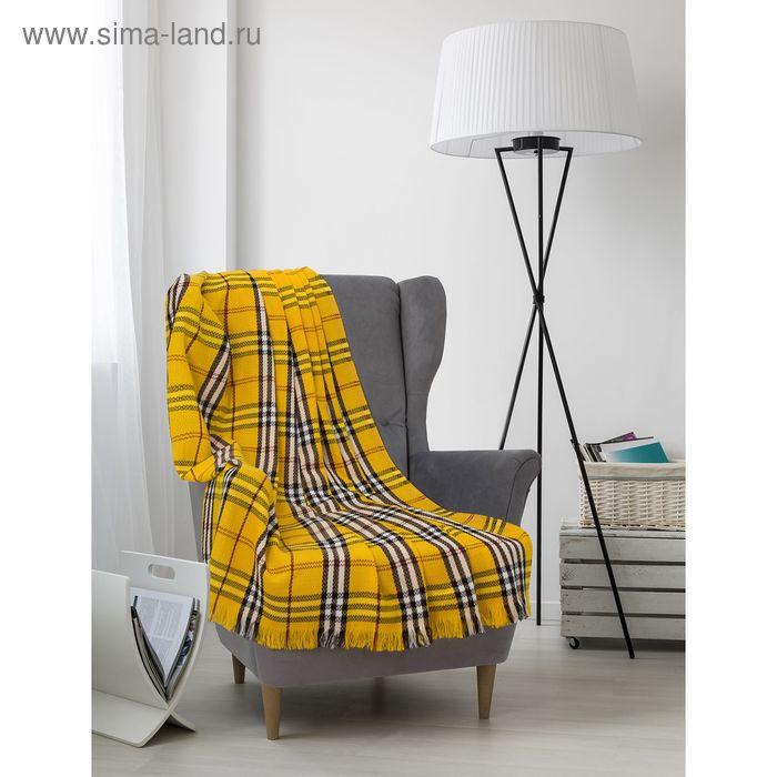 "Плед ""Колосок"", размер 150х200см, край обсыпка 5см, 180 гр/м, цвет желтый"