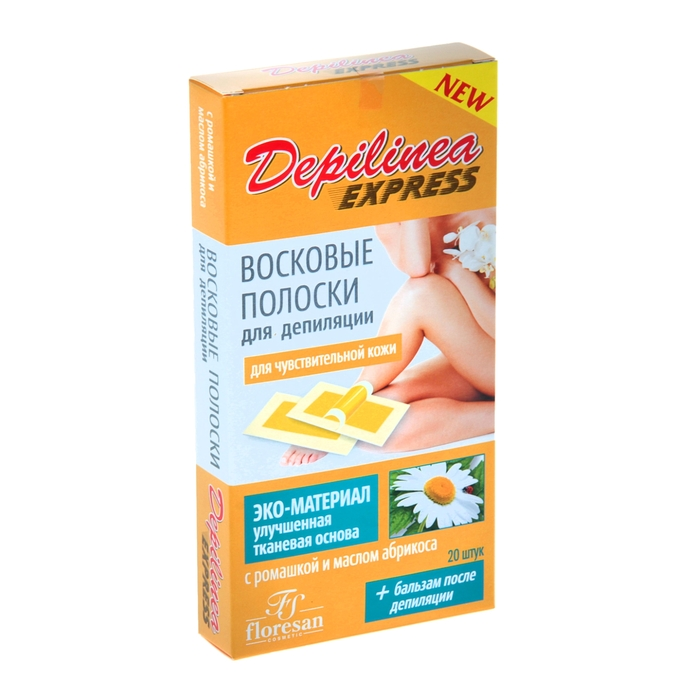 Eco-friendly wax strips for depilation Deep Depil, with chamomile, for sensitive skin, 20 pcs.
