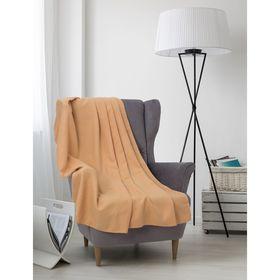 Плед вафельный, размер 150х200 см, 240 гр/м, цвет песочный Ош
