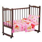 """Детское постельное бельё """"Карамелька"""" Плюшевые мишки, размер 112х147 см, 60х120х20 см (трикотажная простыня на резинке), 40х60 см-1шт., цвет розовый"""