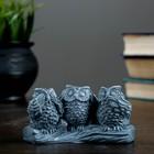 """Фигура """"Три совы"""" серый 6 см"""