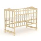 Детская кроватка «Фея 204» на колёсах или качалке, цвет натуральный