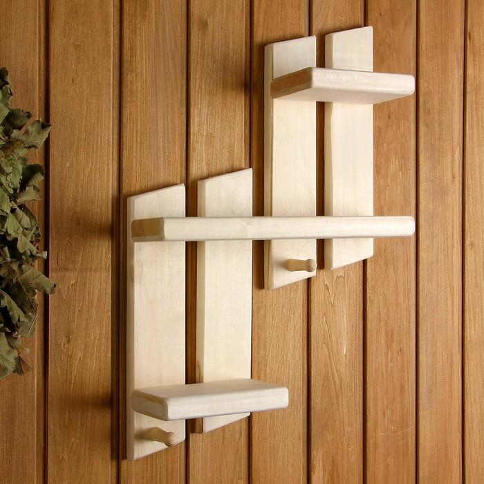 Полка «Добропаровъ», форма — ступеньки, 2 крючка