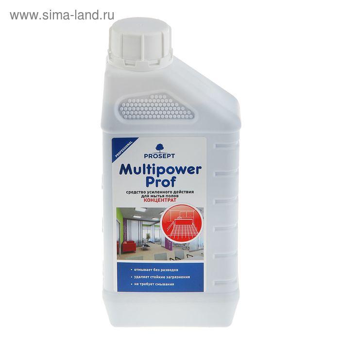 Средство для мытья всех типов полов Multipower Prof усиленного действия. Концентрат,1л