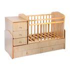 Детская кровать-трансформер «Фея 2100», цвет клён