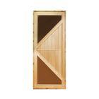"""Дверь 1870х770 см с угловыми стеклянными вставками, липа """"Добропаровъ"""""""