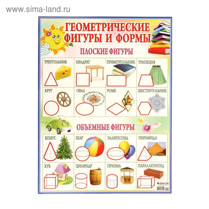 "Плакат ""Геометрические фигуры"" А2"