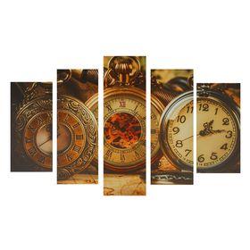 """Картина модульная на подрамнике """"Часы"""" 2-25х52, 2-25х66,5, 1-25х80 см, 80х140 см"""