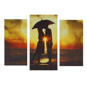 "Картина модульная на подрамнике ""Поцелуй"" 2шт-25,5*50,5 см, 30,5*60 см, 60х100 см"