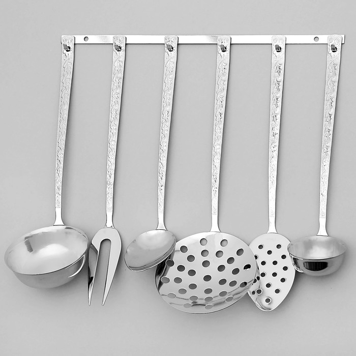 Набор кухонных принадлежностей, 6 предметов, толщина 2,5 мм, на подвесе