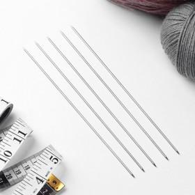 Спицы для вязания чулочные, d = 1,9 мм, 19,5 см, 5 шт