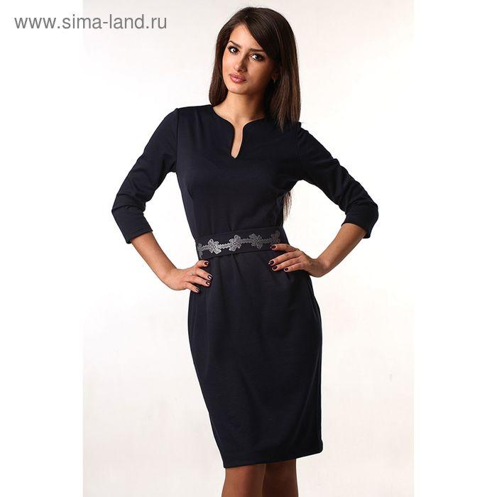 Платье женское М-216-05 темно-синий, р-р 52