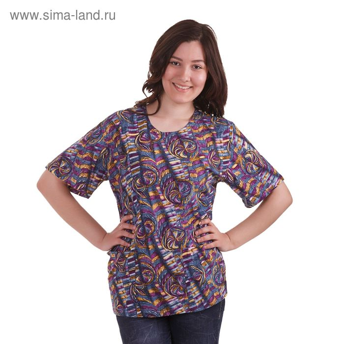 Блузка женская с08-476-009, цвет микс, размер 52 (XXL)