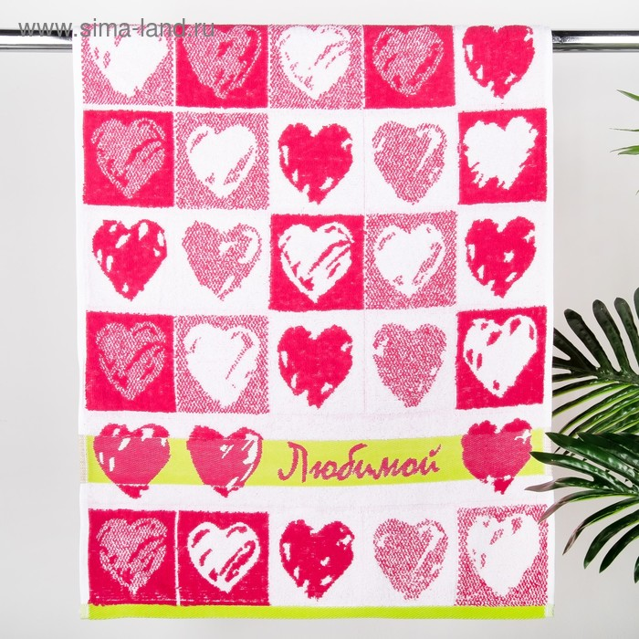 Полотенце махровое Little Hearts, размер 50х90 см, 420 гр/м2