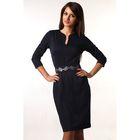 Платье-футляр женское  темно-синий, р-р 48