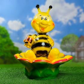 "Садовая фигура ""Пчелка с цветком"" кашпо 48х41х54см"