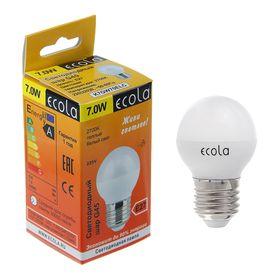 """Лампа светодиодная Ecola """"шар"""", Е27, 7 Вт, 2700 К"""