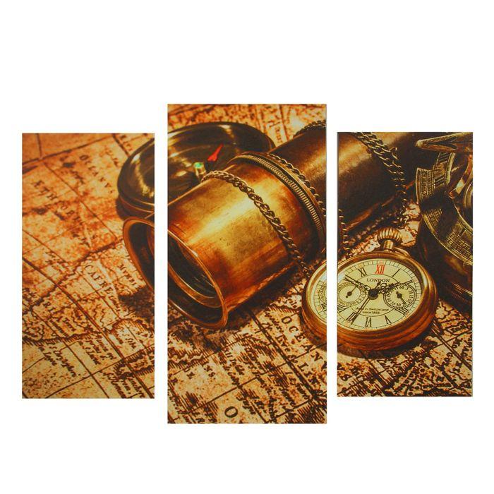 "Картина модульная на подрамнике ""Карта"" 2шт-25,5*50,5см, 30,5*60см, 60х100 см - фото 797685550"