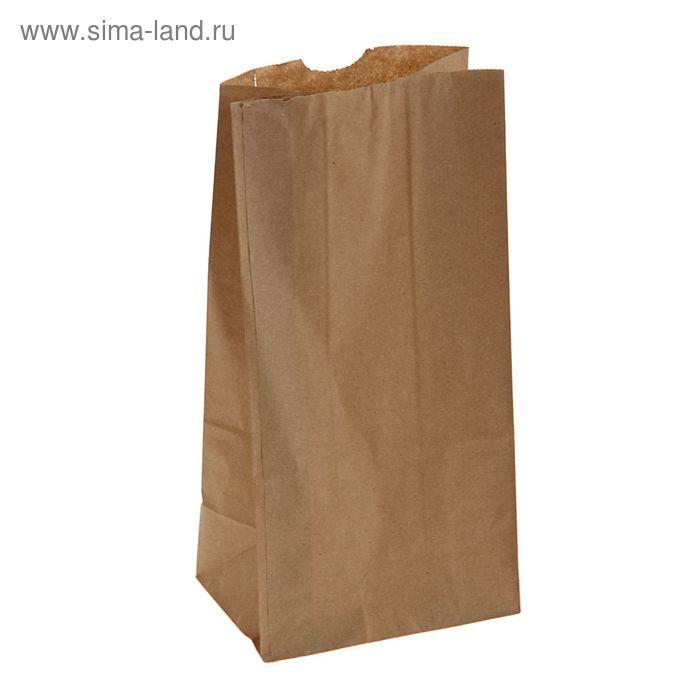 Пакет крафт бумажный фасовочный, 26,9 х 13,2 х 9 см