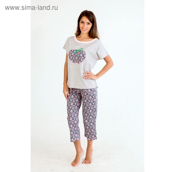 Комплект женский (футболка, бриджи) Амели МИКС, р-р 54
