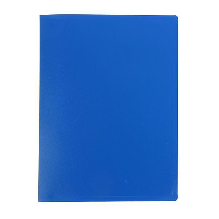 Папка с 20 прозрачными вкладышами А4, 400мкм, синяя