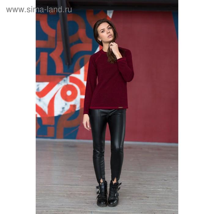 Блузка женская 4399б, размер 48, рост 164 см, цвет бордо