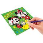 """Роспись по холсту """"Давай веселиться!"""" по номерам красками (наб.6 цветов по 3мл + кисть + 1 пакет блестки), Микки Маус и друзья"""