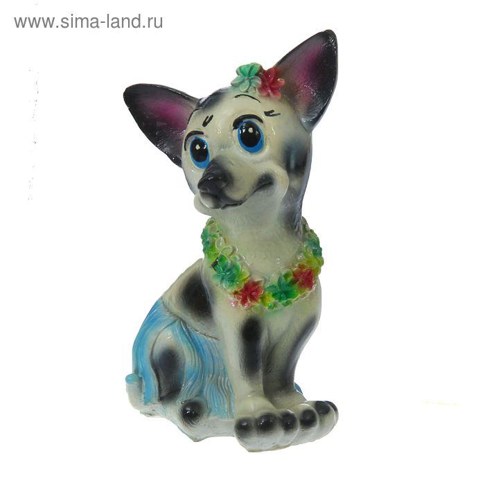 "Копилка ""Собака в цветах"" микс"