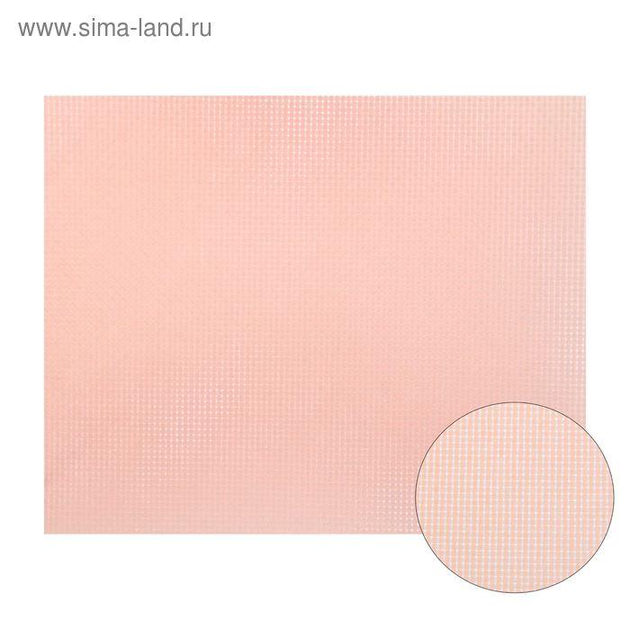 Канва для вышивания, Aida №14, 30х40см, цвет светло-розовый