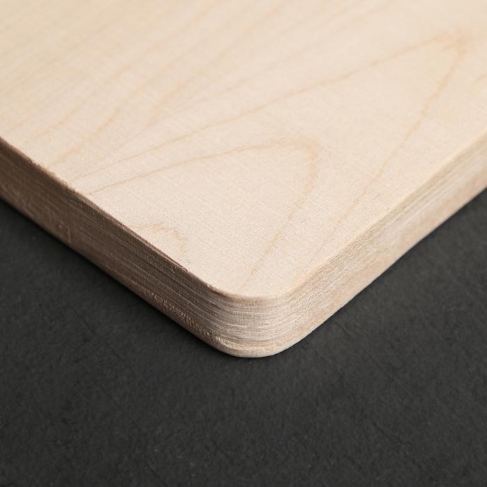 Доска разделочная с канавкой «Классика», массив берёзы, 28×22×1,5 см