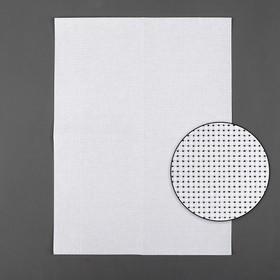 Канва для вышивания, Aida №11, 30х40см, цвет белый Ош