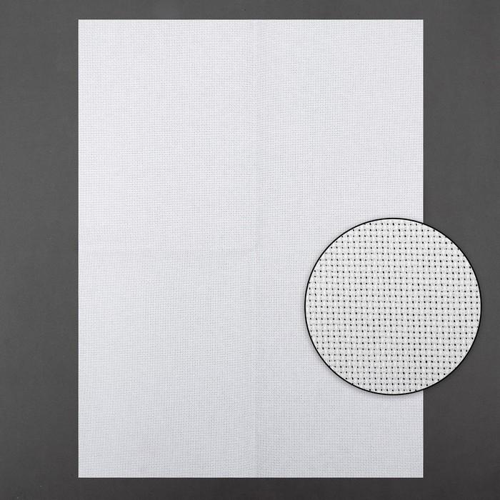 Канва для вышивания, №18, 30 × 40 см, цвет белый
