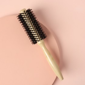 Brushing, d=2/5cm, combined bristles, light wood color